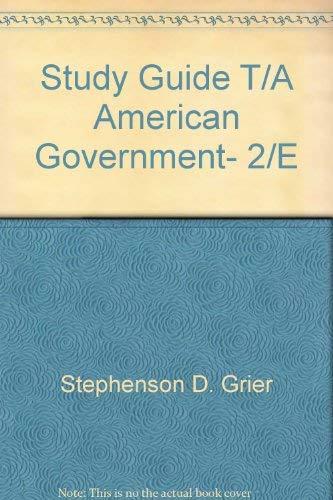 9780065004830: Study Guide T/A American Government, 2/E