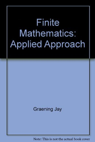 9780065006230: Finite Mathematics: Applied Approach