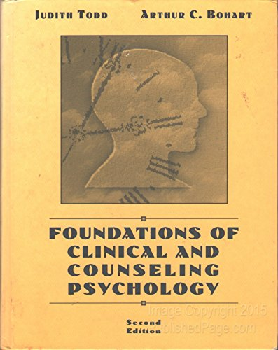 9780065006636: Foundations of Clinical and Counseling Psychology