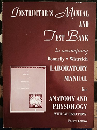 9780065009040: Instructor's Manual and Test Bank to Accompany Laboratory Manual for Anatomy and Physiology, 4th Edition
