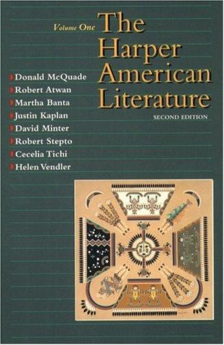 9780065009644: Harper American Literature, Volume I