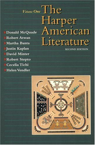 9780065009644: Harper American Literature, Volume I (2nd Edition)
