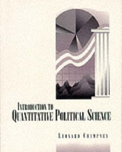 9780065010329: Introduction to Quantitative Political Science