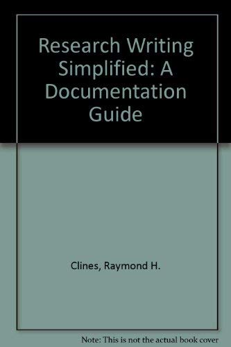 9780065010442: Research Writing Simplified: A Documentation Guide