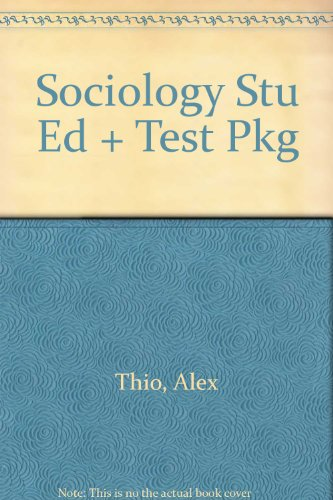 9780065011098: Sociology Stu Ed + Test Pkg