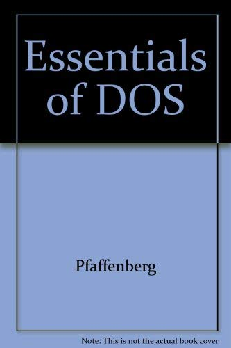9780065011357: Essentials of DOS (The HarperCollins essentials series)