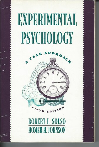 9780065011425: Experimental Psychology: A Case Approach