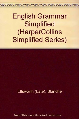 9780065011487: English Grammar Simplified (Harpercollins Simplified Series)