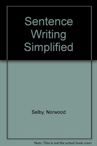 9780065011494: Sentence Writing Simplified (HarperCollins simplified series)