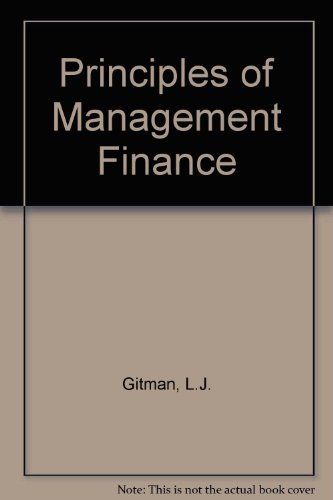 9780065013191: Principles of Management Finance