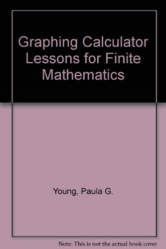 9780065013306: Graphing Calculator Lessons for Finite Mathematics