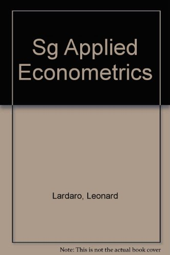 9780065016109: Sg Applied Econometrics