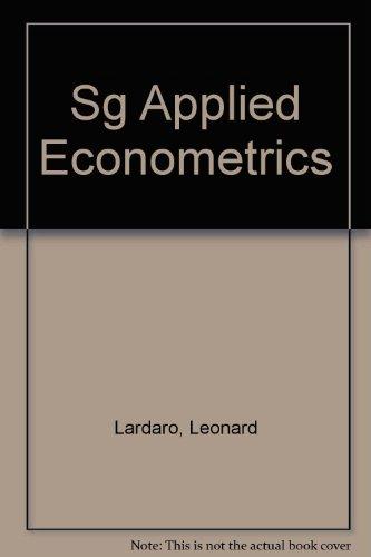 9780065016109: Sg Applied Econometrics