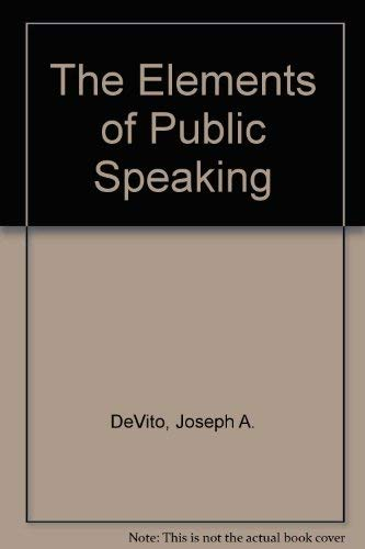 9780065017328: The Elements of Public Speaking