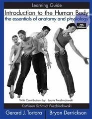 9780065019155: Introduction to the Human Body: Study Guide: The Essentials of Anatomy & the Physiology