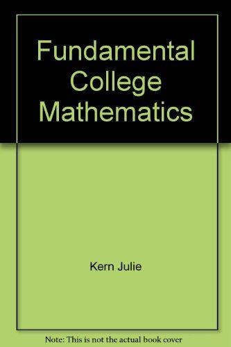 9780065019643: Fundamental College Mathematics