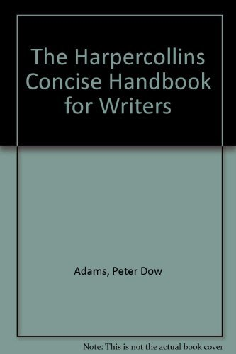 9780065019940: The Harpercollins Concise Handbook for Writers