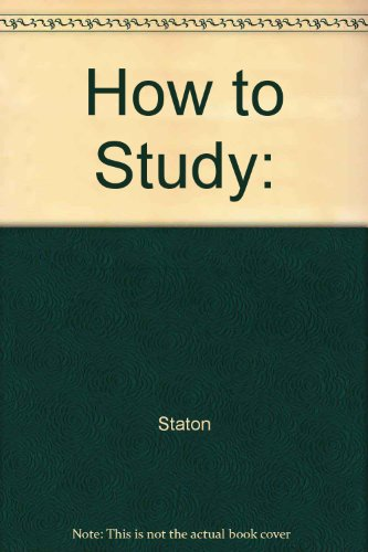 9780065321012: How To Study