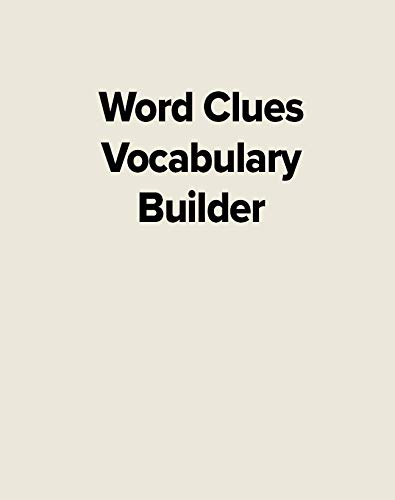 Word Clues the Vocabulary Buil