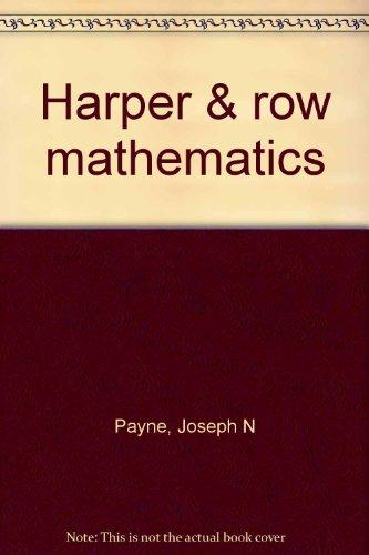 9780065430073: Harper & row mathematics