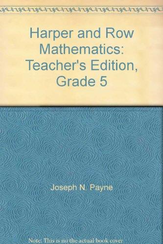 9780065432053: Harper and Row Mathematics: Teacher's Edition, Grade 5