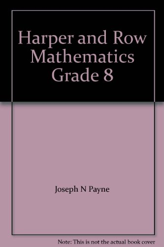 9780065450088: Harper and Row Mathematics Grade 8