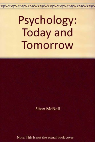 9780065525014: Psychology: Today and Tomorrow