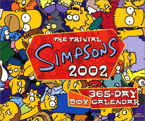 9780066211503: The Trivial Simpsons 2002 Calendar