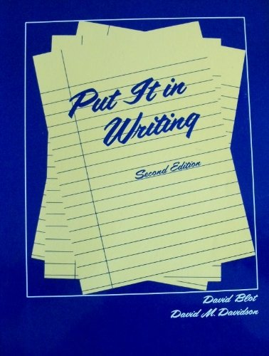 9780066321370: Put It in Writing: Writing Activities for Students of Esl