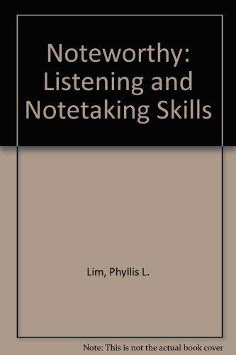 9780066326375: Noteworthy: Listening and Notetaking Skills