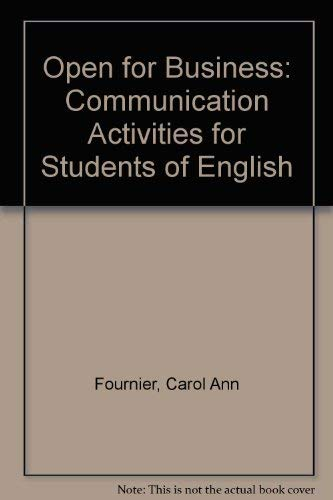 9780066326436: Open for Business: Communication Activities for Students of English
