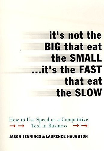 9780066620534: It's Not the Big That Eat the Small...It's the Fast That Eat: How to Use Speed as a Competitive Tool in Business