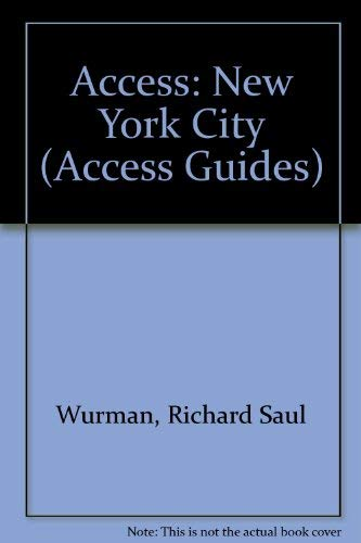 9780067725221: New York City Access Guide