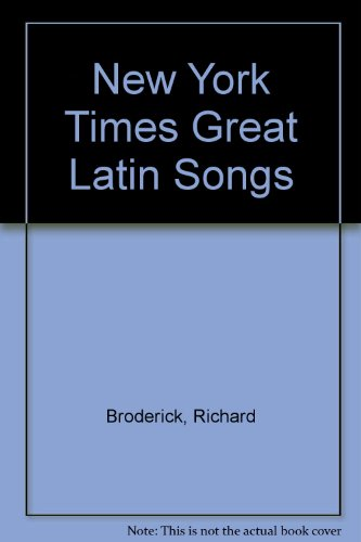 9780068402183: The New York Times Great Latin Songs