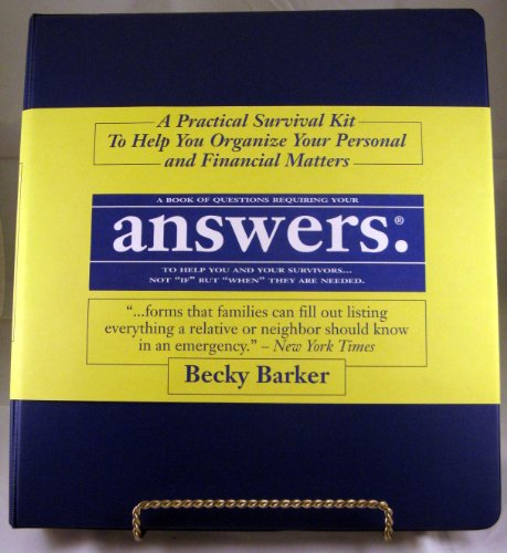 9780068598084: Answers: A Practical Survival Kit To Help You Organize Your Personal and Financial Matters