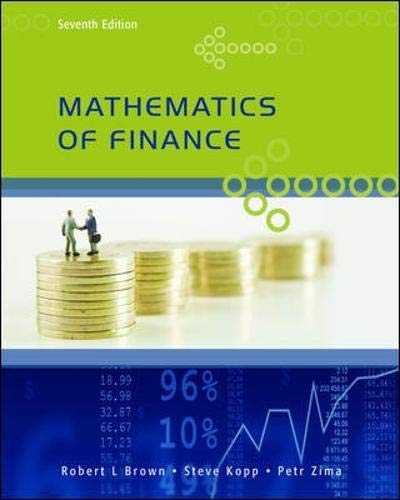 9780070000186: Mathematics of Finance