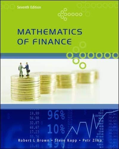 Mathematics of Finance, Seventh Edition: Zima, Petr, Kopp,