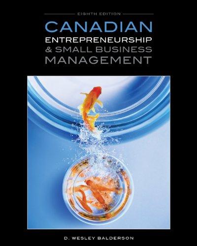 9780070000209: Canadian Entrepreneurship & Small Business Management