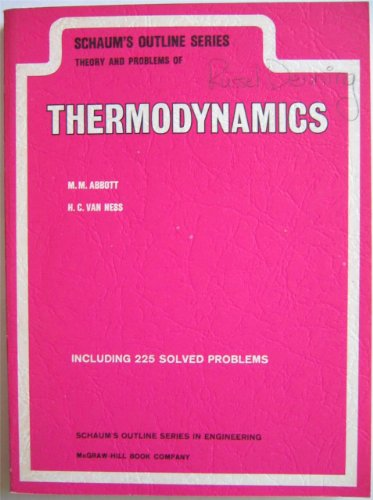 9780070000407: Schaum's Outline of Theory and Problems of Thermodynamics