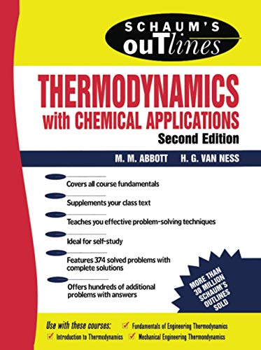 9780070000421: Schaum's Outline of Thermodynamics With Chemical Applications (Schaum's Outline Series)
