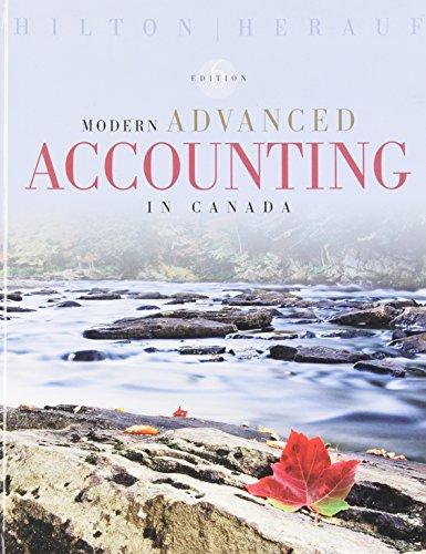 9780070001534: Modern Advanced Accounting in Canada, 6th Edition