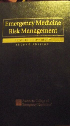 9780070002142: Emergency Medicine Risk Management: A Comprehensive Review