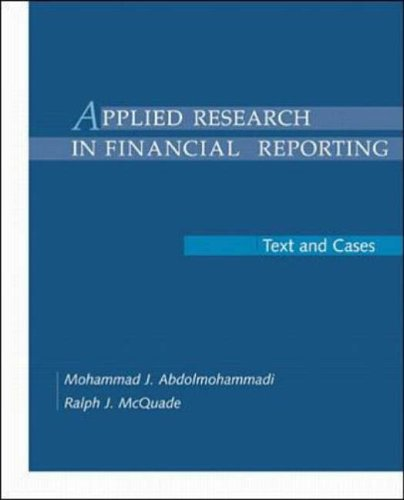 9780070004801: Applied Research in Financial Reporting: Text and Cases
