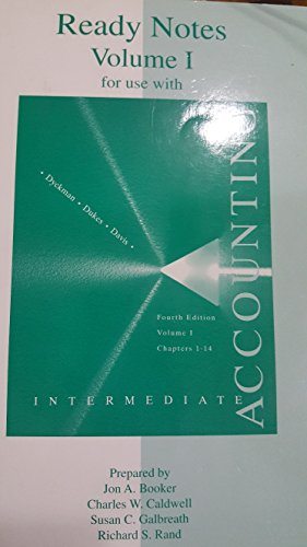 9780070005822: Intermediate Accounting: Ready Notes