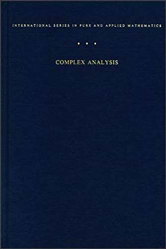 9780070006577: Complex Analysis. An Introduction to the Theory of Analytic Functions of One Complex Variable