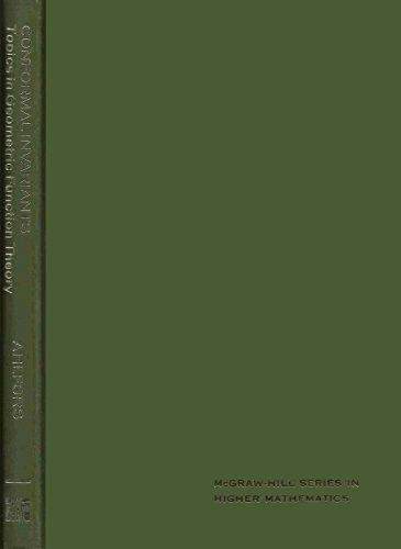 9780070006591: Conformal Invariants