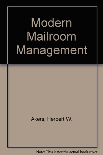 9780070007604: Modern Mailroom Management