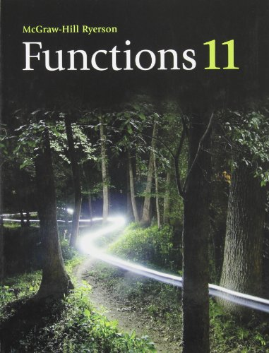 9780070009783: Functions 11 Student Edition