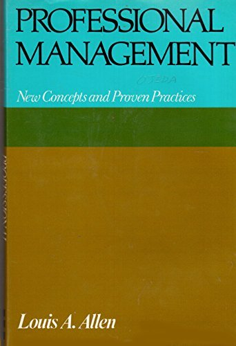 9780070011106: Professional Management