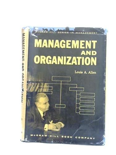 9780070013650: Management and Organization